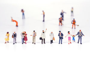 diverse tiny people